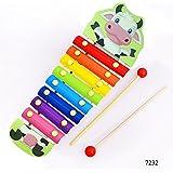 Jef Cartoon Animal Premium Wooden Xylophone / Hand Knock Piano - Musical toys