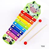 #10: Jef Cartoon Animal Premium Wooden Xylophone / Hand Knock Piano - Musical toys