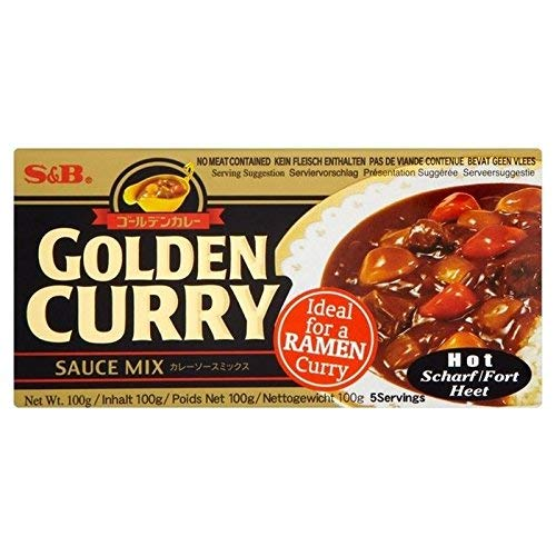 S & B Goldenen Mix Curry 100g warm (6Stück) (Goldener Curry Mix)