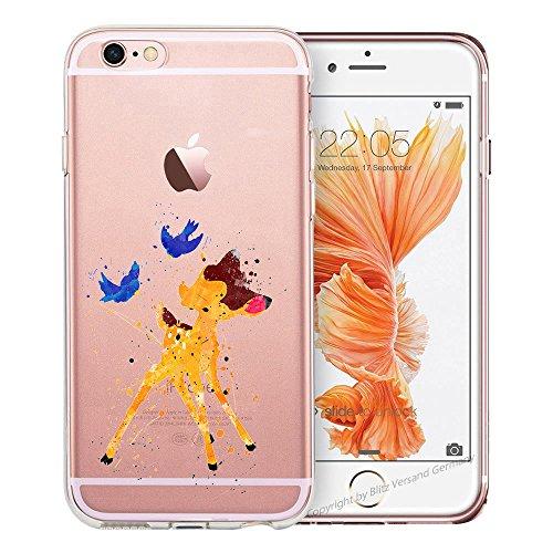 Blitz® ADORE Schutz Hülle Transparent TPU Cartoon Comic Case iPhone Bambi iPhone 7PLUS Bambi