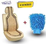 #10: Fabtec Wood Beaded Seat Cover With Microfiber Glove Duster Combo!