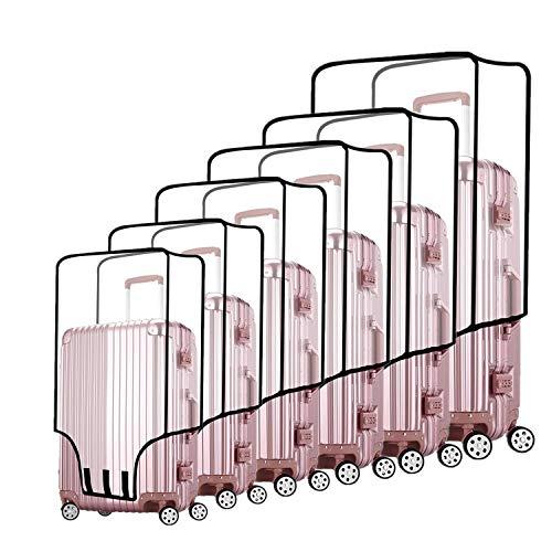 Protectores de Fundas para Maletas por ZKSport Viajar Protector de Equipaje PVC Transparente a Prueba de Polvo a Prueba de rasguños 20 a 30 Pulgada