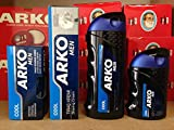 MENS GIFT SHAVING SET 4 PIECE KIT ARKO COOL SCENT SHAVING CREAM 100ML SHAVING BALM 150ML AFTERHSAVE COLOGNE 250ML AND AN AFTER SHAVE CREAM 50ML 018 by Gummy