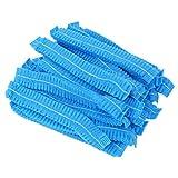SUPVOX 200 pz Monouso Bouffant Caps non tessuto protezioni chirurgiche capa dei capelli copertura netto per il servizio medico cibo cottura trucco (blu)