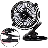 Maxesla USB Clip Fan Mini Personl Desk Fan With 2 Speed Operation, 360° Adjustable Up And Down USb Cooling Table Fan Powered By Computer, Power Bank, USB Power Adapter, For Home/Office/Outdoor