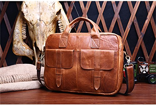 Marwar , Herren Schultertasche KMWB81-red brown KMWB81-red brown