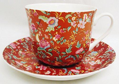 Petite Bombay Kaffeetasse und Untertasse Petite Bombay Metallic Tangerine Orange Fine Bone China groß Tasse & Untertasse Hand in Großbritannien) Dunkelviolett (Bone China Petite)