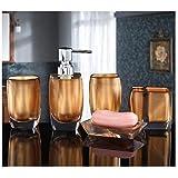 Badezimmer Fünf-Stück im europäischen Stil Einfache Harz-Badezimmer-Set Neu Hochzeit Geschenke WC Set Kit enthält Ri