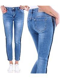 Black Denim Damen Jeans Hose 7/8 Röhrenjeans Jeanshose Damenjeans bis Übergröße Stretch A1018