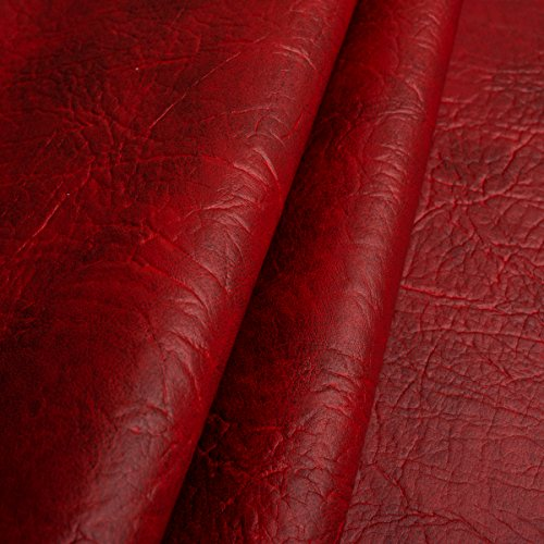 EDGE Exklusives Kunstleder Mammut Meterware Polsterstoff Bezugsstoff Rot -