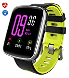 Yamay Bluetooth Sport Smart Watch with IP68 Waterproofing, Fitness Tracker, Alarm, Pedometer, Sleep Monitor, Sitting Alert, Stopwatch, SMS and Call Notification, Push / Camera Transmitter, Music for Android and iOS Phone