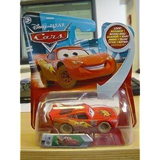 Disney CARS Dirt Track Lightning McQueen Expression Fahrzeug Auto 1:55