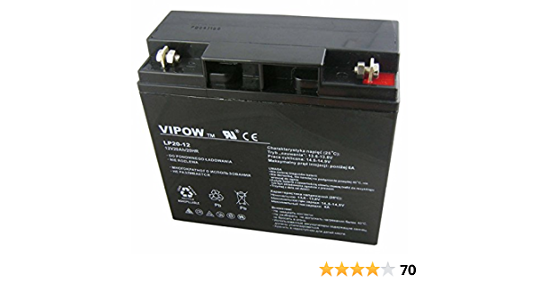Vipow Lp20 12 Blei Akku 12v 20ah Batterie 181 X 77 X 163 Mm Wartungsfrei Luftdicht Bleiakku Auto