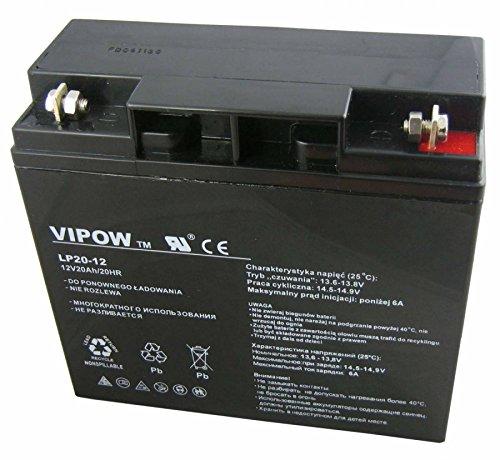 Vipow - Batería de Movilidad 12V 20Ah Para silla de ruedas eléctrica. Batería de ciclo profundo de gel. Pila recargable. Acumulador