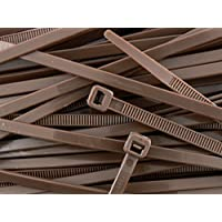 All Trade Direct-Cable Ties 300mm x 4.8mm (Pack of 100), Dark Brown