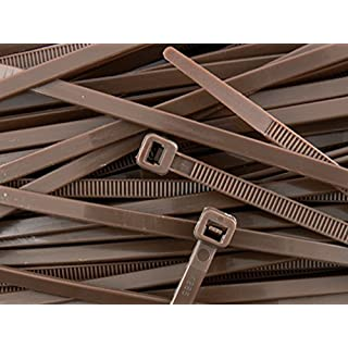 All Trade Direct – Cable Ties 300 mm x 4.8 mm (Pack of 100), Dark Brown