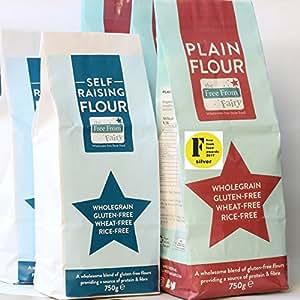 The Free From Fairy Gluten-Free Wholegrain Plain & Self Raising Flour 4 Pack (2 of each)
