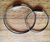 Spiraldraht Schlüssel Ring, Premium Qualität , Edelstahl 15cm, 10 Stück