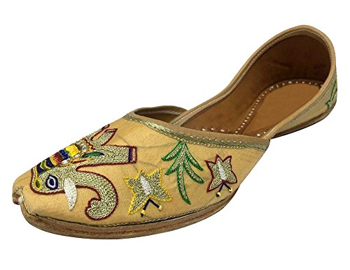 Step n stile etnico kolhapuri infradito designer shoes formale juttie wedding khussa, (multicolor), 41.5