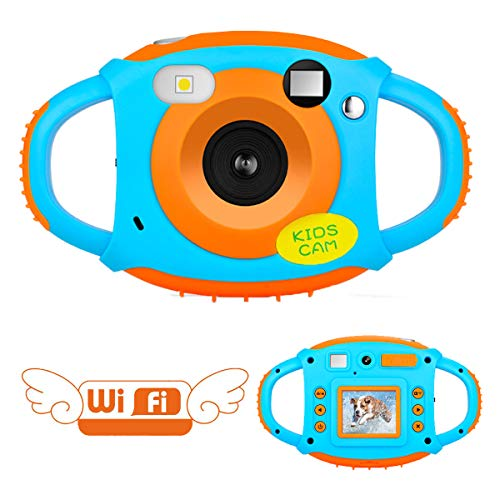 Cámara para Niños Camara de Fotos para Niños con Doble Cámara WiFi Cámara Recargable de 5MP 1080P Cámara Digital para Niños con 1.77 HD Pantalla a Color Videocámara Infantil