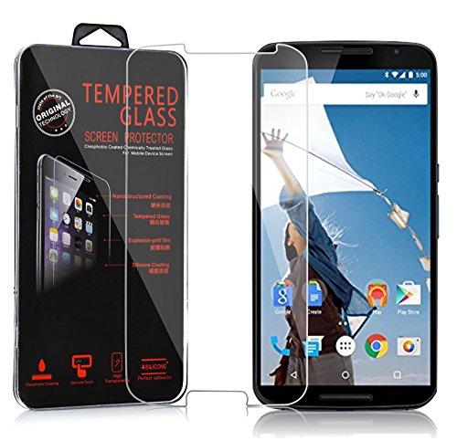 Cadorabo Panzer Folie für Motorola Google Nexus 6 / 6X - Schutzfolie in KRISTALL KLAR - Gehärtetes (Tempered) Bildschirm-Schutzglas in 9H Härte mit 3D Touch Kompatibilität