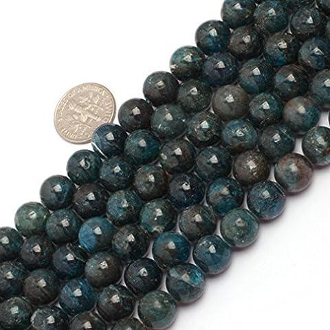 Sweet & Happy Girl'S Store 10mm Round Gemstone Apatite Beads Strand 15 Inch Jewellery Making (Apatite Strand)