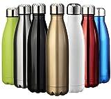 Die besten Isolierte Reise Flaschen - ZUSERIS Thermobecher Doppelwandige Trinkflasche Edelstahl Sportflasche Wasserflasche Camping Bewertungen
