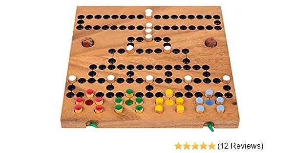 Barrikade Brettspiel Gesellschaftsspiel Familie Würfelspiel aus Holz Malefiz