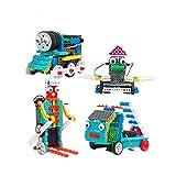 RCTecnic Kit Robotica Educativa para Niños 4 en 1 | Juguete Teledirigido para Montar con Mando Radiocontrol | Regalo Electronico Juegos de Construcción con Motor 170 piezas