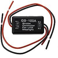 SODIAL(R) Stroboscope Controleur Module Clignoteur pour Queue de Frein LED Lumiere d'arret 12-16V