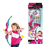 Toyshine Big Size Pink Archer Bow and Arrow Set with Quiver and 3