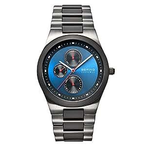 Bering Time - 32339-788 - Montre Homme - Quartz Analogique - Aiguilles lumineuses - Bracelet différents matériaux Multicolore