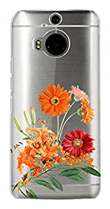 WOW Transparent Printed Back Cover Case For HTC One M9 Plus