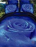 Azul claro:Sets Funda Nórdica,Tamaño de Ropa de Cama:Doble,Patrones:3D,Material:Algodón,Material Interno:Algodón,Tipo de Tejido:100% Algodón Plano,Artesanías:Estampado reactivo,Recuento de hilos (Thread Count):600 Tc,Configura el Tamaño:4 Piezas,Comp...