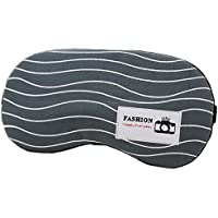 MSYOU Schlafmaske aus Baumwollleinen, einfache Schlafmaske, verstellbar, für Zuhause, Büro, Reisen, Wellige Linie) preisvergleich bei billige-tabletten.eu