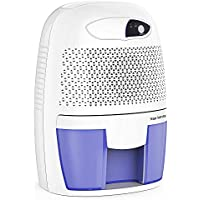 Hysure 500ml Electric Dehumidifier, Removes Humidity 250ml per day, 500ml Detachable Water Tank, LED Indicator, Automatic, Efficient, Portable, Quiet, No Need Refill