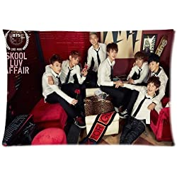 Custom BTS Skool Luv Affair Pattern Pillowcase Print on Two Sides High Quality Pillow Case 20*30 Inch