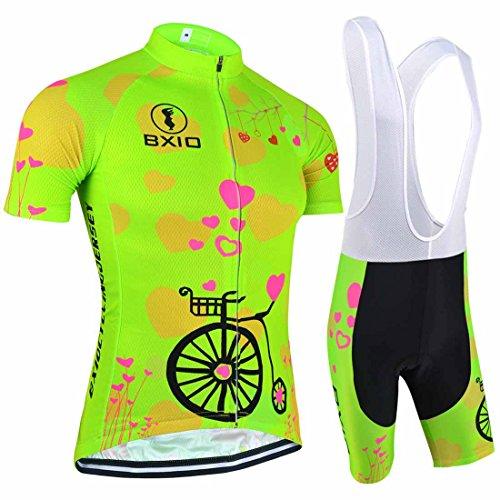 BXIO Mujeres Ciclismo Traje Jerseys Pequeño Verde