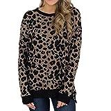 Donna Maglie A Stampa Maglioni Primavera E Autunno Manica Lunga Sexy Stampa Leopardo Elegante Maglione T-Shirt Manica Lunga Moda Qinsling