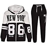 A2Z 4 Kids® Bambini Tuta Ragazzi Ragazze Progettista New York 86 - T.S New York 86 Black 7-8