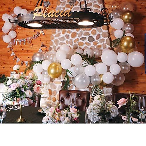 GE&YOBBY Ballon Arch,Latex DIY Partyballons In Der Stadt Luftballons Konfetti Mit Streifen-Werkzeug Für Die Hochzeit Baby Shower Graduierung Party Dekorationen-f (Party-stadt Hochzeit Dekorationen)