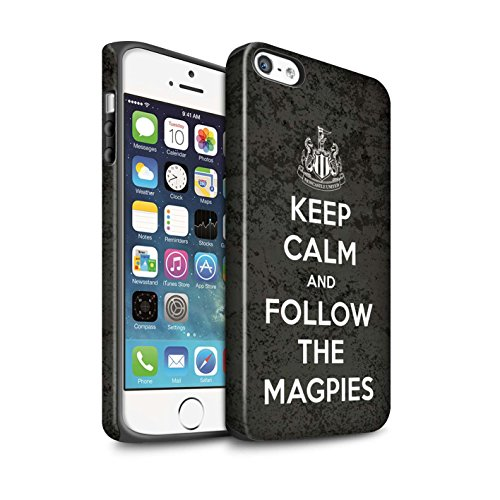 Officiel Newcastle United FC Coque / Matte Robuste Antichoc Etui pour Apple iPhone 5/5S / Pack 7pcs Design / NUFC Keep Calm Collection Suivez/Magpies