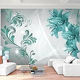Fototapete Blumen Lilien Vlies Wand Tapete Wohnzimmer Schlafzimmer Büro Flur Dekoration Wandbilder XXL Moderne Wanddeko - 100% MADE IN GERMANY - 9268010b