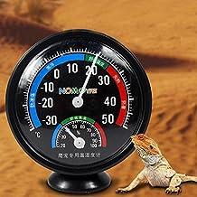 Medidor de humedad de temperatura para monitoreo reptil lagarto tortuga serpiente tanque hábitat acuario incubadora higrómetro termómetro accesorios