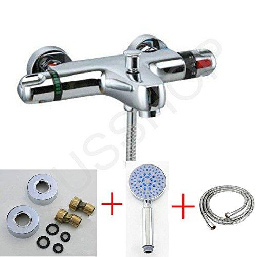 Generic Unction SHO Tippen Sie 55FUNCT Dusche Ventil auf 5FUNCT chrom Thermostat Bar ER Bad Mischbatterie