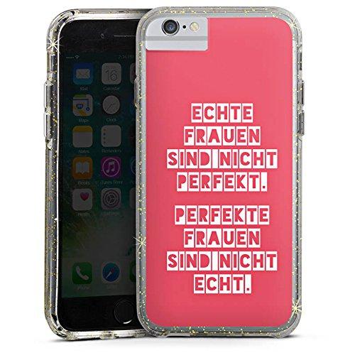 Apple iPhone X Bumper Hülle Bumper Case Glitzer Hülle Frauen Sprüche Sayings Bumper Case Glitzer gold