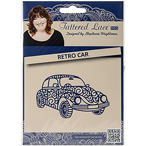 Create and Craft Metal Tattered Lace Die-Retro Car