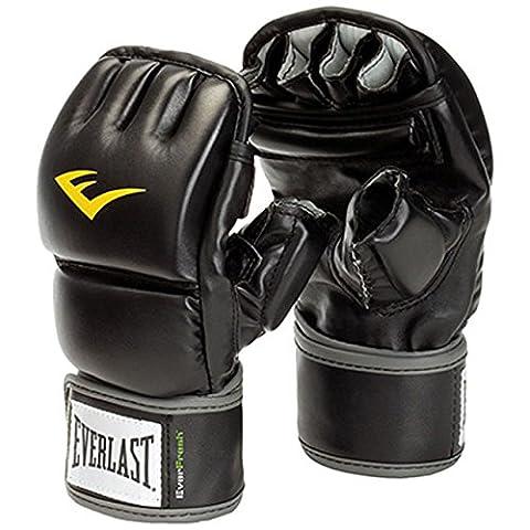 Everlast Unisex Wrist Wrap Heavy Bag Gloves, Black,