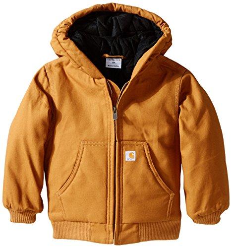 Carhartt Little Boys' Toddler Active Jacket, Carhartt Brown, 3T -