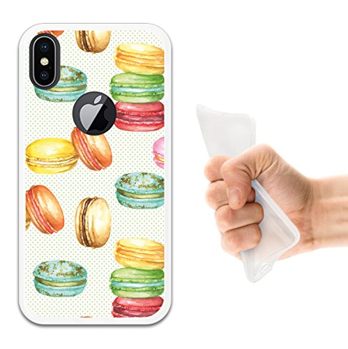 iPhone X Hülle, WoowCase Handyhülle Silikon für [ iPhone X ] Satz - I Love You To The Moon And Back 2 Handytasche Handy Cover Case Schutzhülle Flexible TPU - Schwarz Housse Gel iPhone X Transparent D0305